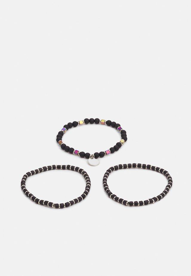 BEADED BRACELETS 3 PACK - Rannekoru - black/silver-coloured