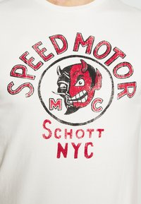 Schott - Print T-shirt - off-white - 5