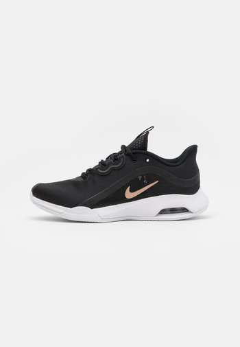 AIR MAX VOLLEY CLAY - Clay court tennis shoes - black/metallic red bronze/white