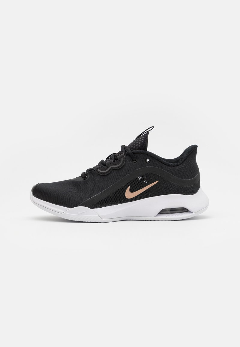 Nike Performance - AIR MAX VOLLEY CLAY - Clay court tennis shoes - black/metallic red bronze/white