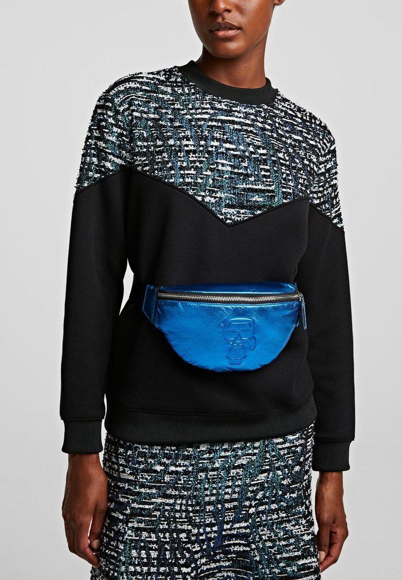 KARL LAGERFELD - Bum bag - metallc bl