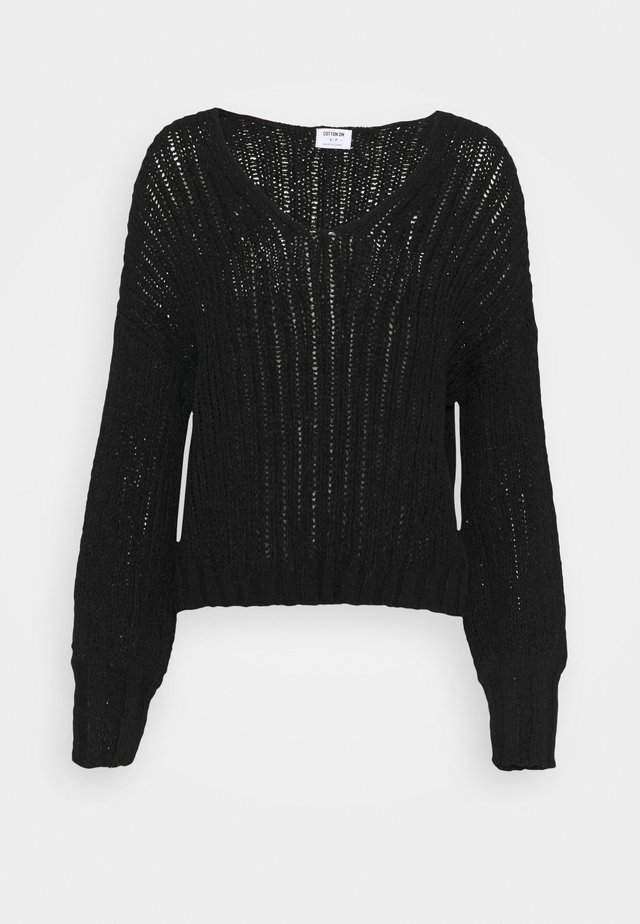 FOXY BOSY TAPE - Strickpullover - black