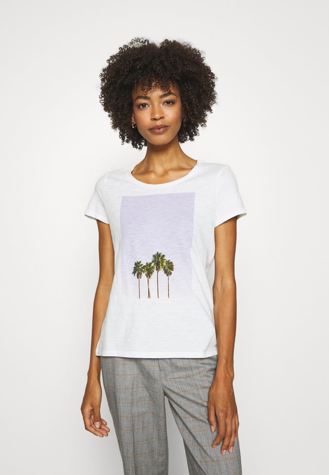 Print T-shirt - scandinavian white