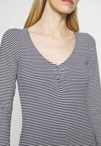 Anna Field - Long sleeved top - dark blue/white - 6