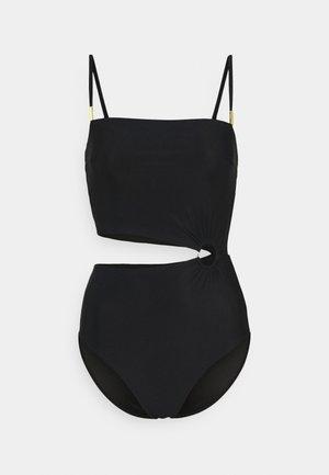 CORE SOLID CUT OUT ONE PIECE - Costume da bagno - black