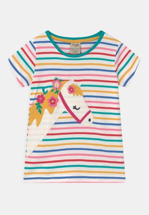 CAMILLE APPLIQUE HORSE TEE - Print T-shirt - white