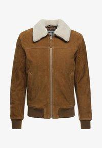 Schott - OFFICIER - Leather jacket - rust - 5