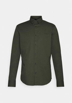 SLIM FIT STRETCH - Shirt - dark olive
