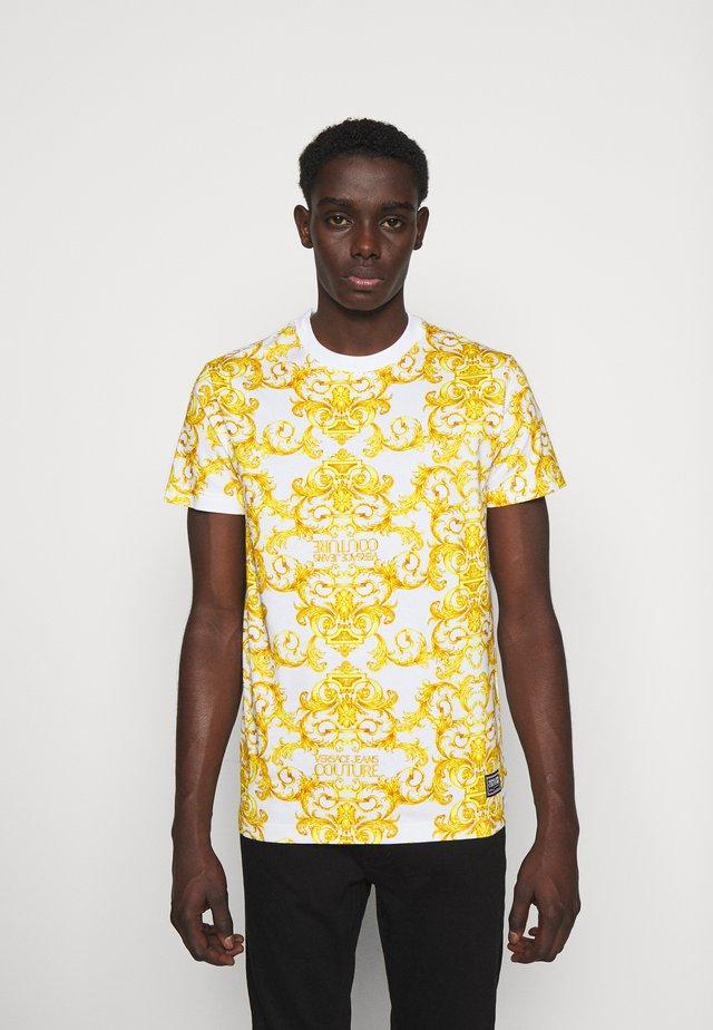 STRETCH LOGO BAROQUE - T-shirt imprimé - white