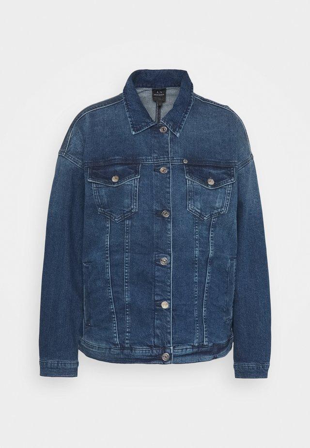 BLOUSON JACKET - Denim jacket - indigo denim