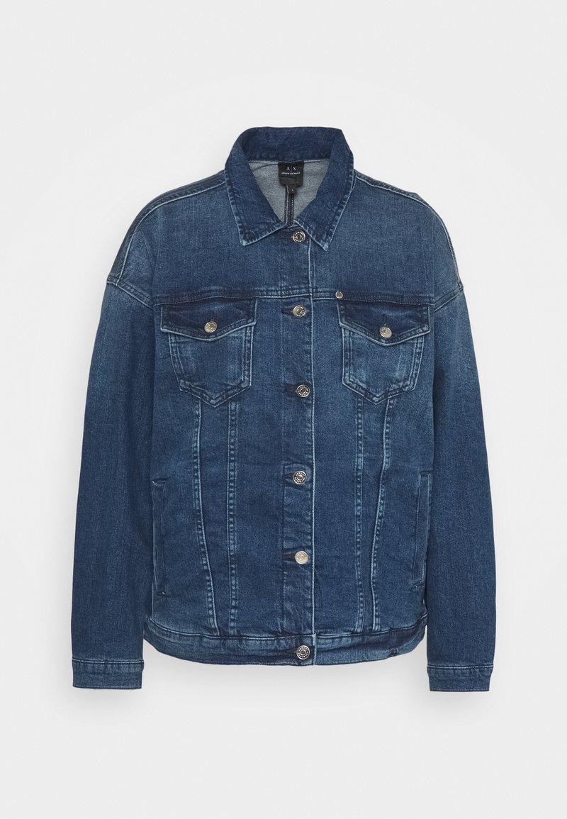 Armani Exchange - BLOUSON JACKET - Denim jacket - indigo denim