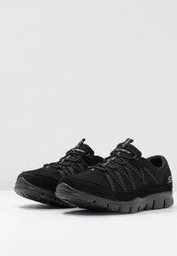 Skechers Wide Fit - STROLLING - Trainers - black - 4