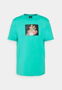 T-JUST-A36 UNISEX - Print T-shirt - turquoise