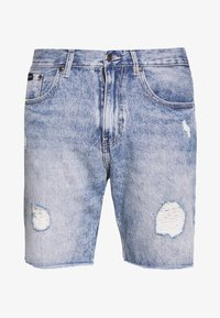 Denim shorts - blue rip