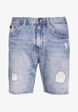 Denim shorts - blue rip