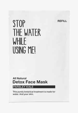 ALL NATURAL PARSLEY KALE DETOX FACE MASK, REFILL SACHET - Gesichtsmaske - black/white