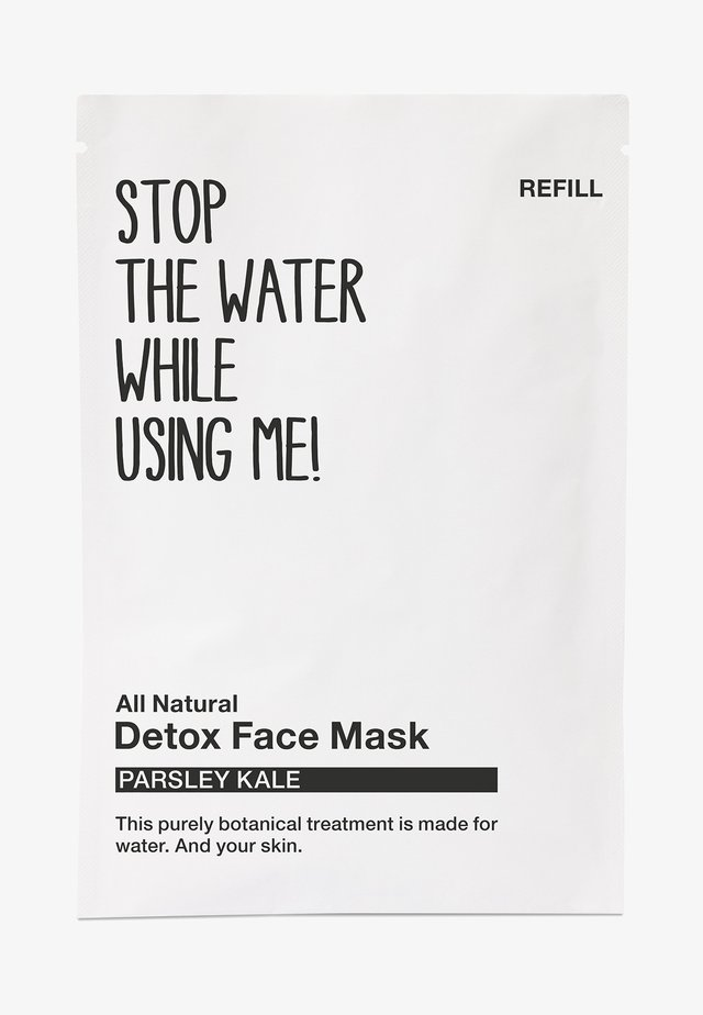 ALL NATURAL PARSLEY KALE DETOX FACE MASK, REFILL SACHET - Masque visage - black/white
