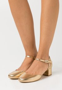 Anna Field Wide Fit - LEATHER - Tacones - gold - 0