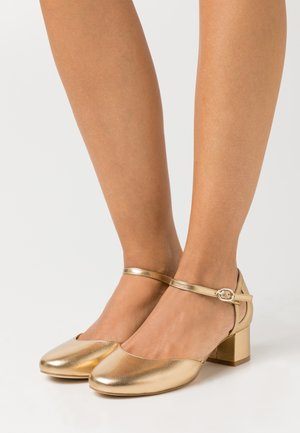 LEATHER - Tacones - gold