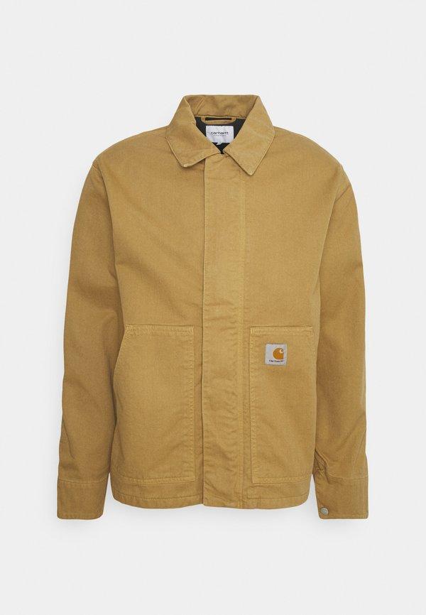 Carhartt WIP ARCAN JACKET - Kurtka jeansowa - dusty brown/brązowy Odzież Męska RQNW