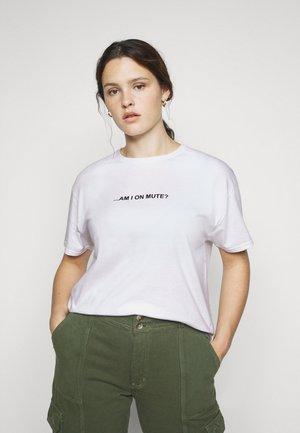 SLOGAN - Print T-shirt - white