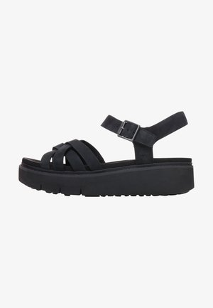 SAFARI DAWN - Sandalen met plateauzool - jet black