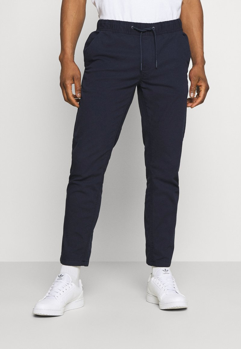 Tommy Jeans - SCANTON DOBBY TRACK PANT - Trousers - twilight navy