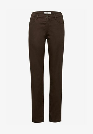 STYLE CAROLA - Trousers - dark chocolate