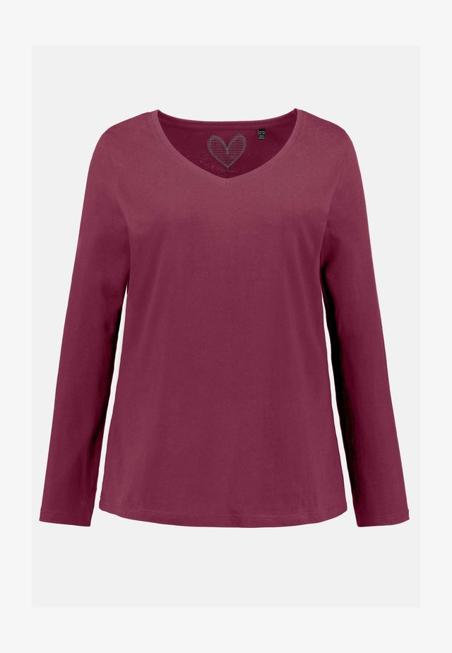 Long sleeved top - orientrot
