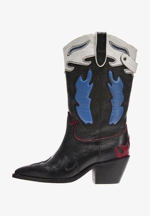 WESTERN W MID - Kovbojské/motorkářské boty - black