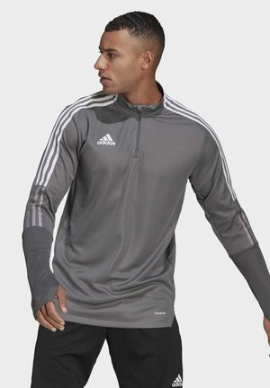 TIRO  TRAININGSOBERTEIL - Langarmshirt - grey