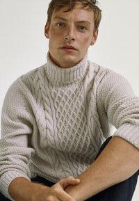 Massimo Dutti - Sweter - grey - 4