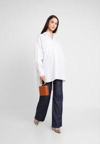 Topshop - OVERSIZED - Button-down blouse - white - 1