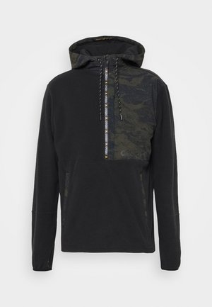 FLIGHT TIME HOODY - Fleece jumper - blackout