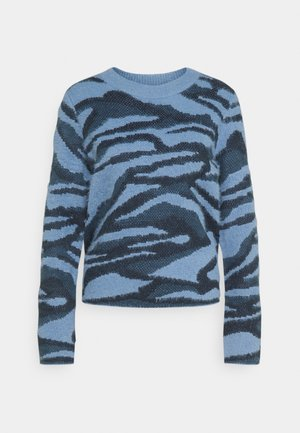 BYNOLLE JUMPER - Strikkegenser - country blue mix