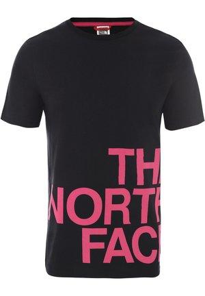 GRAPHIC FLOW - T-shirt imprimé - black/pink