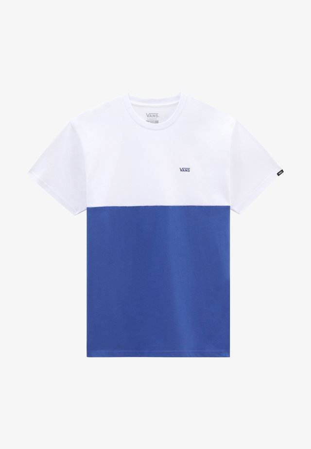 MN COLORBLOCK TEE - T-shirt con stampa - deep ultramarine/white