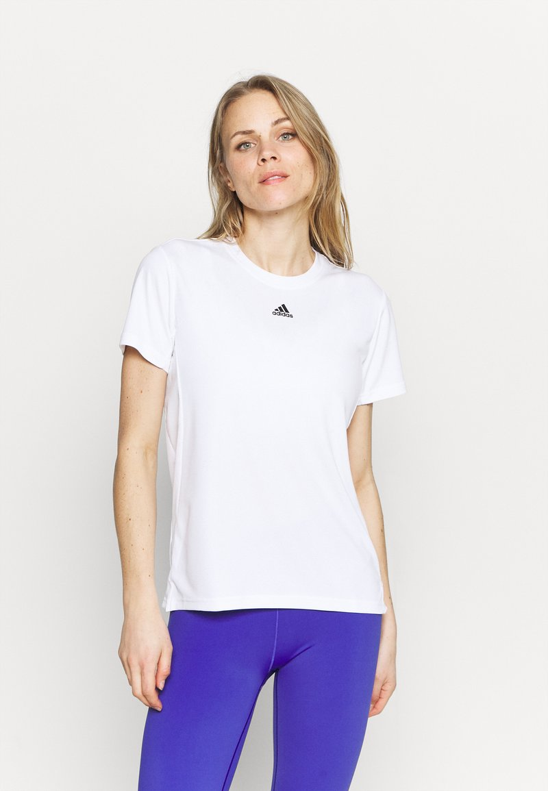 adidas Performance - NECESSI TEE - T-shirts med print - white/black