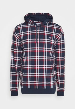 PLAID HOODIE - Hoodie - twilight navy/multi