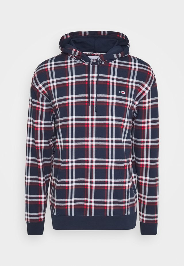 PLAID HOODIE - Sweat à capuche - twilight navy/multi