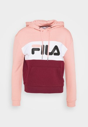 LORI HOODIE  - Hoodie - tawny port-coral cloud-bright white