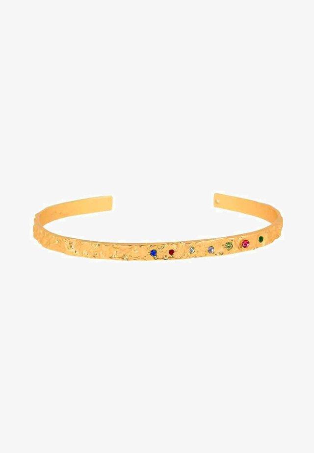 AMBER SLIM RAINBOW - Armband - gold