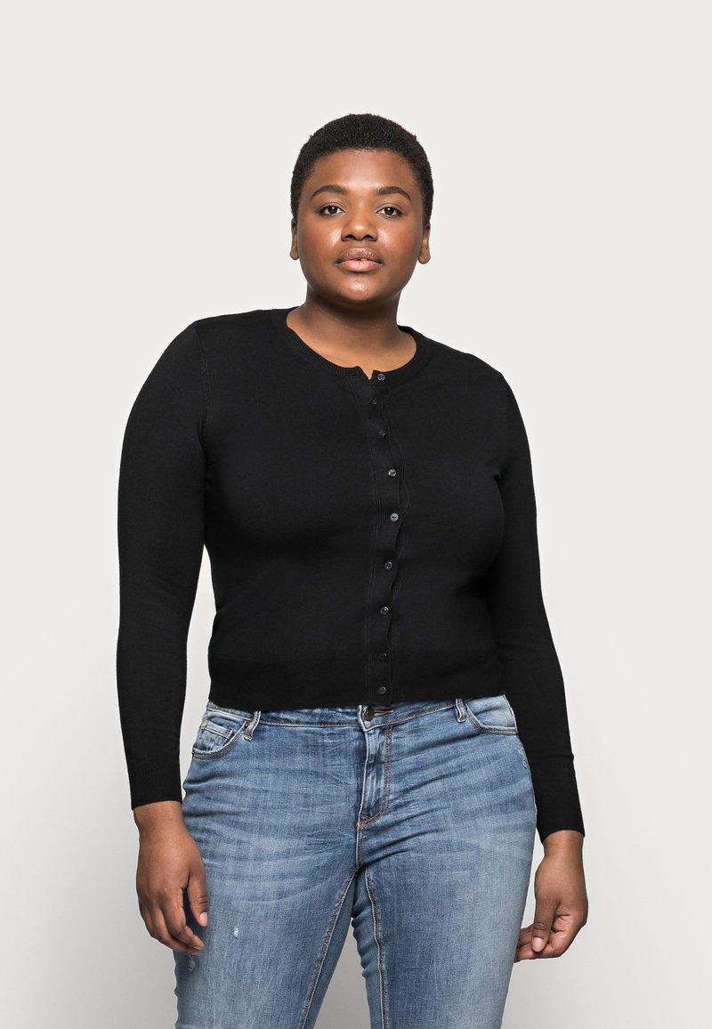 Marks & Spencer London - CREW CARDI PLAIN - Strikjakke /Cardigans - black