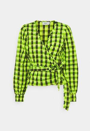 PATTI WRAP - Blouse - neon green