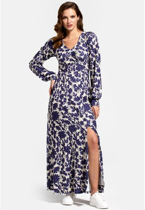 WITH LONG SLEEVES - Maxi dress - blue geo blossom