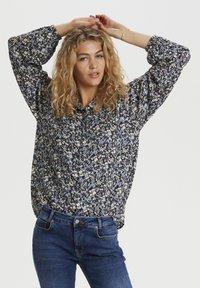 Denim Hunter - Button-down blouse - total eclipse flora print - 0