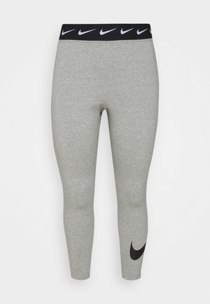 CLUB PLUS - Leggings - dark grey heather/black