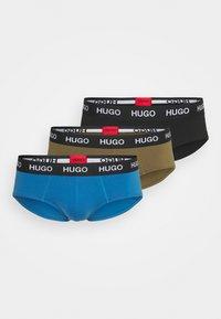 HUGO - HIPBRIEF 3 PACK - Briefs - black/blue/khaki - 0