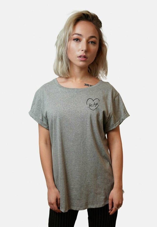 FUNBOYS SMALL WTSRU - T-shirt med print - mottled grey