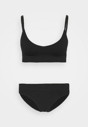 Rib seamless set - Bustier - black